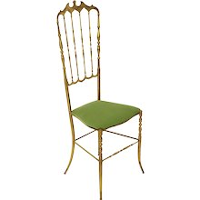 Chiavari Brass Side Chair 1950s Italy