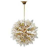 Snowball gold-plated Chandelier by Emil Stejnar circa 1955 Vienna