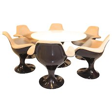 Dining Table and Six Chairs designed by Markus Farner and Walter Grunder c. 1970