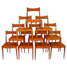 Up to Ten Dining Chairs by Anna Luelja Praun Vienna 1953