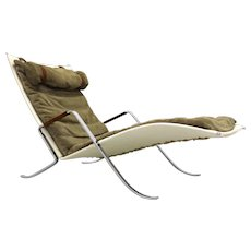 "Chaise Lounge ""Grasshopper"" by Preben Fabricius and Jorgen Kastholm for Alfred Kill c. 1967"