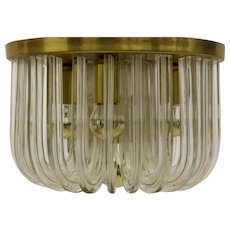 Crystal Glass Flush Mount by Bakalowits & Söhne Vienna 1960´s