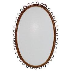 Rattan Mirror France 1950s