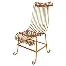 Gilt Iron Chair circa 1940 Italy