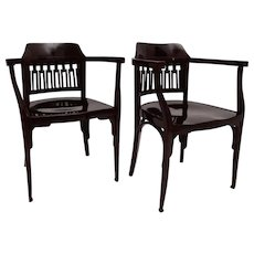 Pair of Armchairs No. 714 by Jacob & Josef Kohn Style Otto Wagner 1902