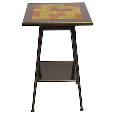 Ar tDeco Side Table with ceramic tiles circa 1930