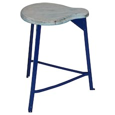 Three - Legged Industrial Stool 1950s