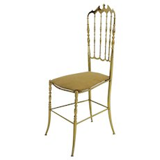 Brass Chiavari Side Chair 1950s Italy