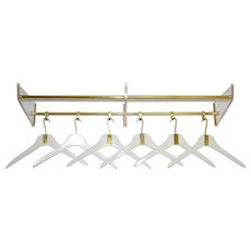 Brass and Lucite Coat Rack 1950s Italy