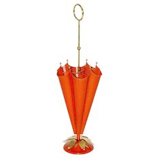Red Umbrella Stand by Mathieu Mategot France 1950s