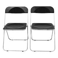 Pair of Folding Chairs Plia by Giancarlo Piretti 1969