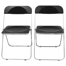 Pair of Folding Chairs Plia by Giancarlo Piretti 1969