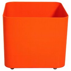 Orange Plastic Plant Container by M. Siard 1970 Italy
