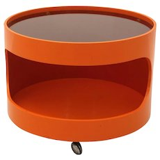Orange Side Table by Opal, Germany