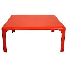 Orange Coffee Table Demetrio 70 by Vico Magistretti 1960
