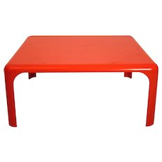 Orange Coffee Table Demetrio 70 by Vico Magistretti 1960
