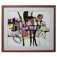 Abstract Painting by Helmut Hodnik Vienna 981