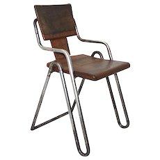 Bauhaus Tabular Steel Chair designed by Peter Behrens circa 1930