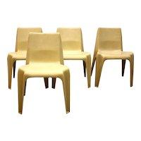 Set of 4 Bofinger Chairs No BA 1171 by Helmut Bätzner 1964-1966