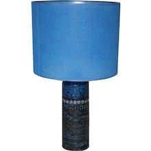 Blue Ceramic Table Lamp, 1960s Finland