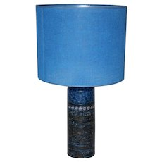 Blue Ceramic Table Lamp, 1960s Finland