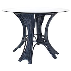 Blue Rattan Table in the style of Borek Sipek 1980s