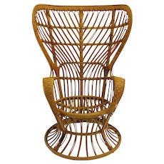 Peacock Chair by Lio Carminati Italy circa 1948