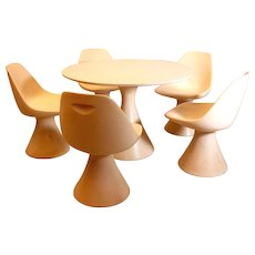 Mid Century Modern White Sitting Room Set by Maurice Burke, 1966
