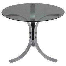 Chromed Coffee Table with three Legs 1960