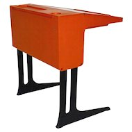 Orange Plastic Desk by Luigi Colani, 1970