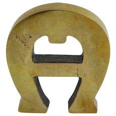 Set of Seven Brass Letters Etienne Aigner 1960s