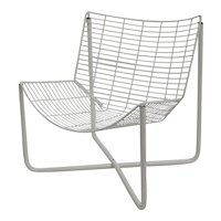 White Lounge Chair Jaerpen by Niels Gammelgard 1983 Denmark