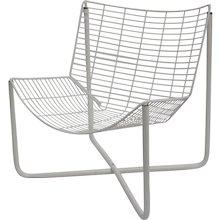 White Lounge Chair Jaerpen by Niels Gammelgard 1983 Denmark