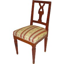 Marquetry Classicism Chair circa 1790 Austria