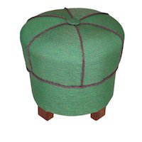 Green Art Deco Stool Austria 1930s