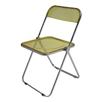 Clear Yellow Folding Chair by Giancarlo Piretti 1969