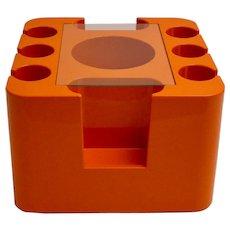 Orange Bar Cart by Sergio Mazza 1967