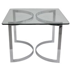 Chrome and Glass Dining Table 1970 England