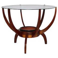Walnut Coffee Table in the style of Carlo di Carli, 1950s