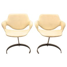 20th Century A Pair of French Armchairs by Boris Tabacoff, 1960´s