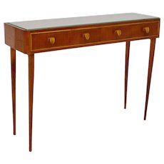 Cherrywood Console Italy 1950s