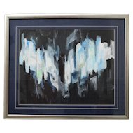 Abstract Painting by Helmut Hodnik circa 1981 Vienna