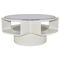 White Fiberglass Space Age Ufo Coffee Table 1960s