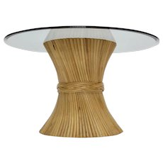 Mc Guire Sheaf of Bamboo Dining Table circa 1970 United States