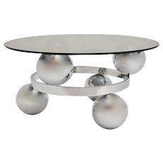 Chromed Sputnik Coffee Table circa 1970 Germany