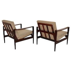 Pair of rosewood Lounge Chair by Arne Wahl Iversen 1960 Denmark