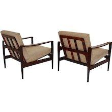 Pair of rosewood Lounge Chair by Arne Wahl Iversen 1960 Denmark