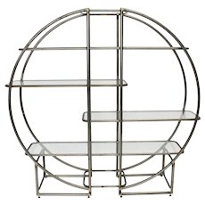 Art Deco Tube Steel Shelf and Room Divider circa 1925