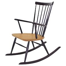 Violet Rocking Chair by Roland Rainer Vienna circa 1958