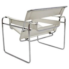 White Wassili Chair by Marcel Breuer